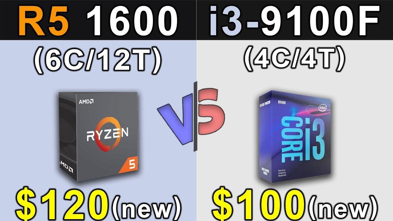 Ryzen 5 1600 Vs. i3-9100F   New Games Benchmarks