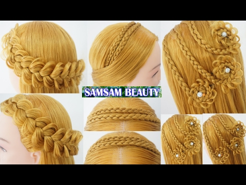 3 The Most Beautiful Hairstyles Tutorials January 2017 Простая прическа SAMSAM BEAUTY