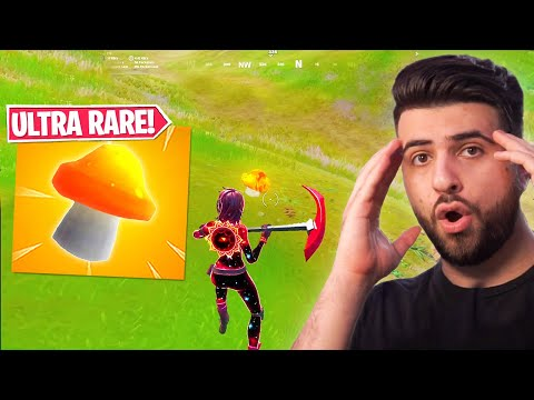 I FOUND The GOLDEN MUSHROOM! (1 IN 10 000 Droprate!) - Fortnite Season 3