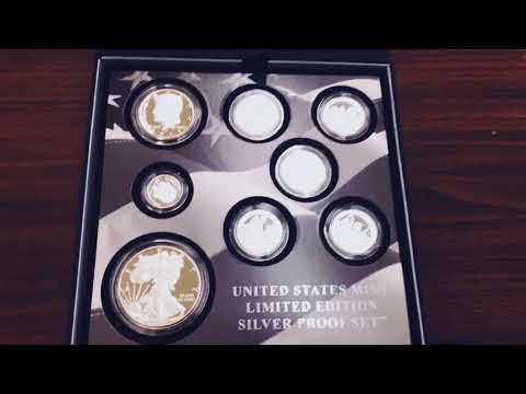 Unboxing 2017 S US Mint Silver Proof 8-Coin Limited Edition Set (w/Box and COA)