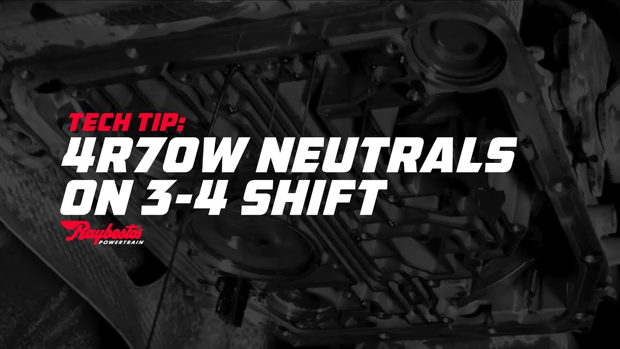 TechTip: 4R70W Neutrals 3-4 shift (Overdrive Band Not Applying)