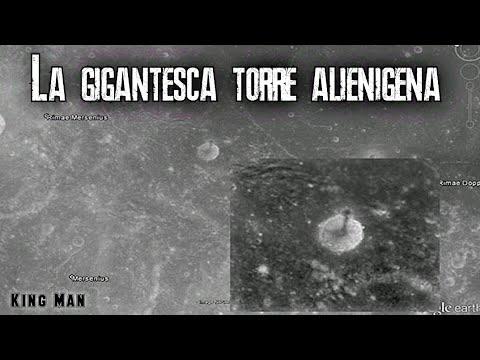 Gigantesca torre en la Luna que se encuentra adentro de un cráter, encontrada en Google Earth