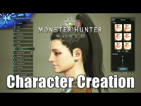 Monster Hunter World Female Human Hunter Character Creation  [1080p HD] PS4