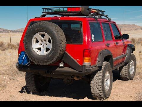 New Rear Bumper on Jeep XJ