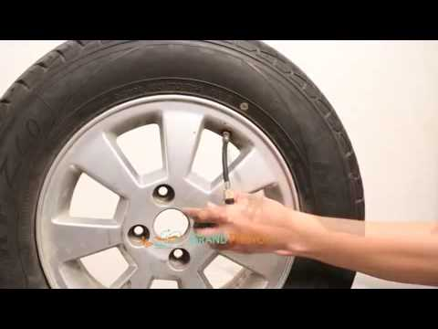 Tyre inflation using CO2 cartridges