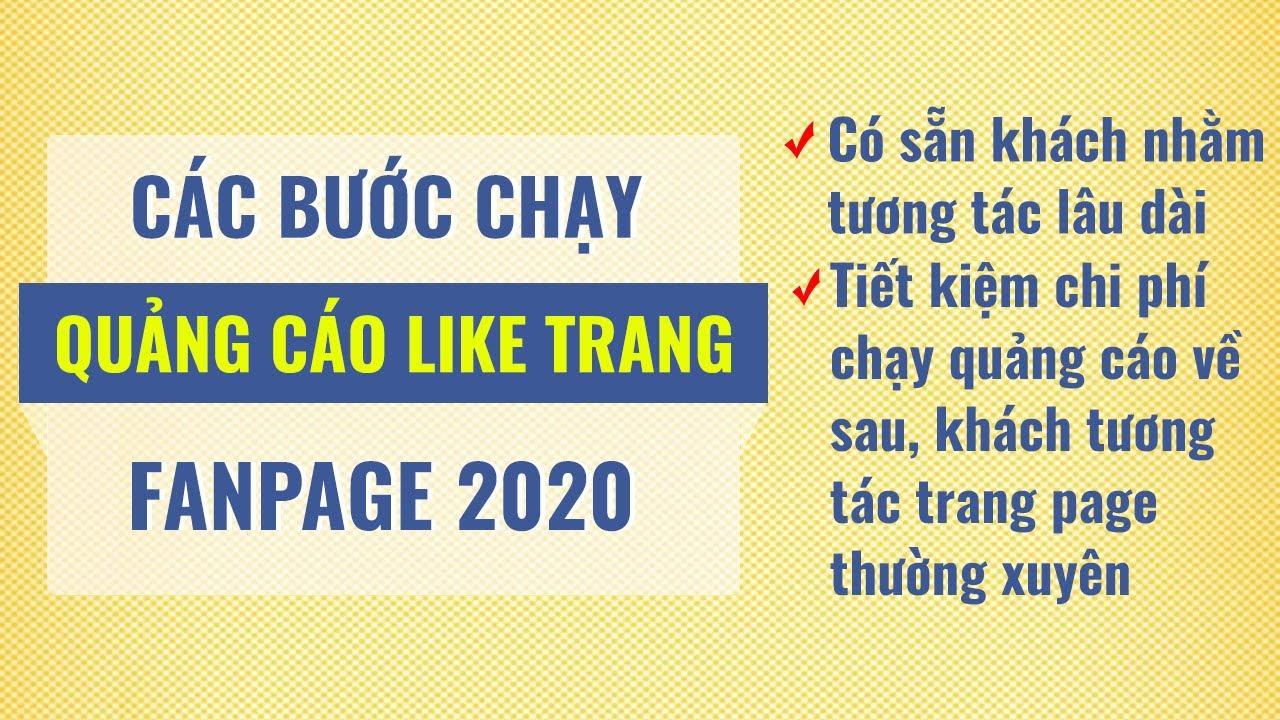 Chạy quảng cáo like trang fanpage facebook