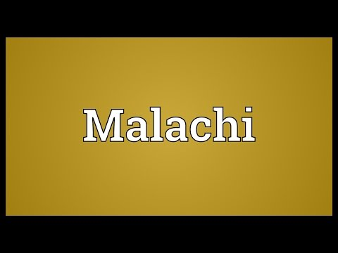 Malachi Meaning