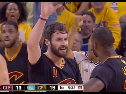40396e4ac56b Kevin Love was trying to High-Five Lebron James is a Total Lie - YouTube