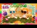 LOL Dolls Go Camping Finds Baby Secret Surprise Visit | Toys R Us