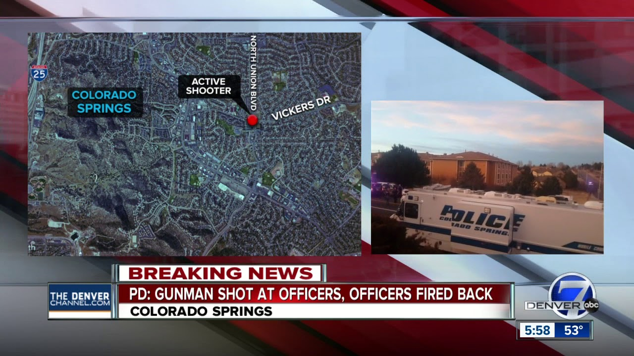 Colorado Springs Police respond to 'active shooting' scene