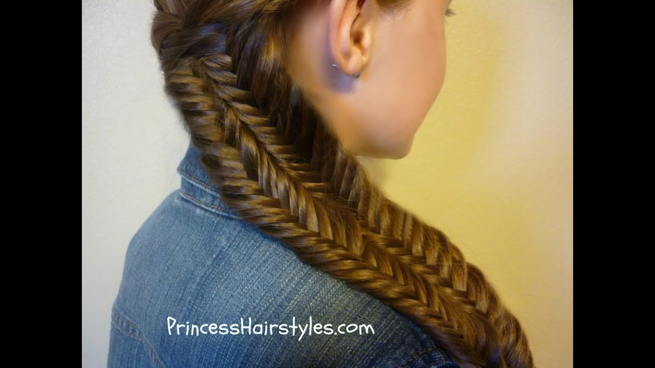 Fishtail Illusion Braid (Mermaid Braid) Hairstyle Tutorial ...