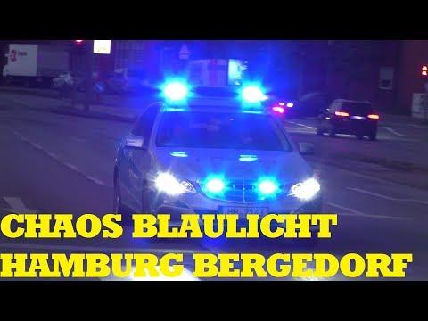 [CHAOS EINSATZFAHTREN] POLIZEI + BF + RETTUNG HAMBURG IM DAUERSTRESS
