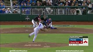 2018 College World Series 1-1 game: #1 Florida Gators vs. #9 Texas Tech Red Raiders