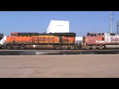 BNSF / ATSF General Freight W / 8 units Tulsa, OK 8/27/17 vid 1 of 8