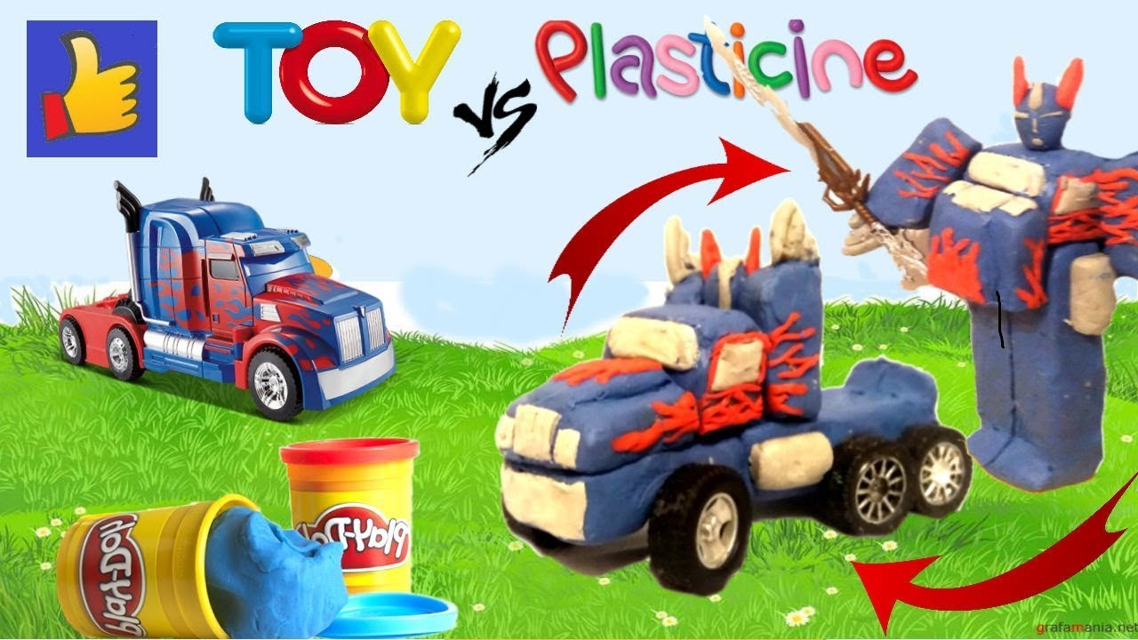 Оптимус Прайм из пластилина (Машинка, робот трансформер из ...