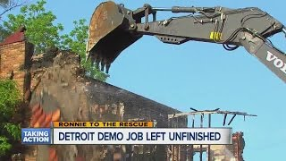 Detroit demo job left unfinished