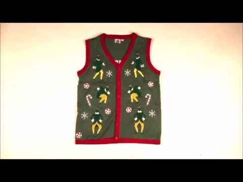 buddy the elf lighted ugly christmas sweater vest with sound by festified - Buddy The Elf Christmas Sweater