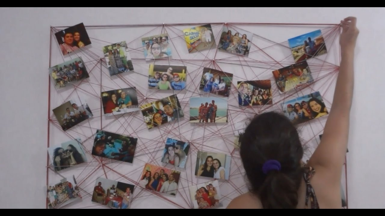 Mural de linha para fotos youtube for Mural de fotos en cartulina