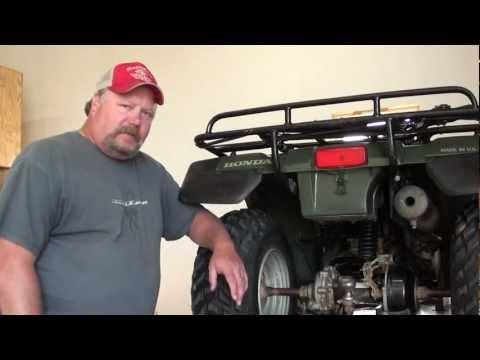 Pt.1 Honda TRX300FW Rear Axle Bearing & Brake Repair At D-Ray's Shop