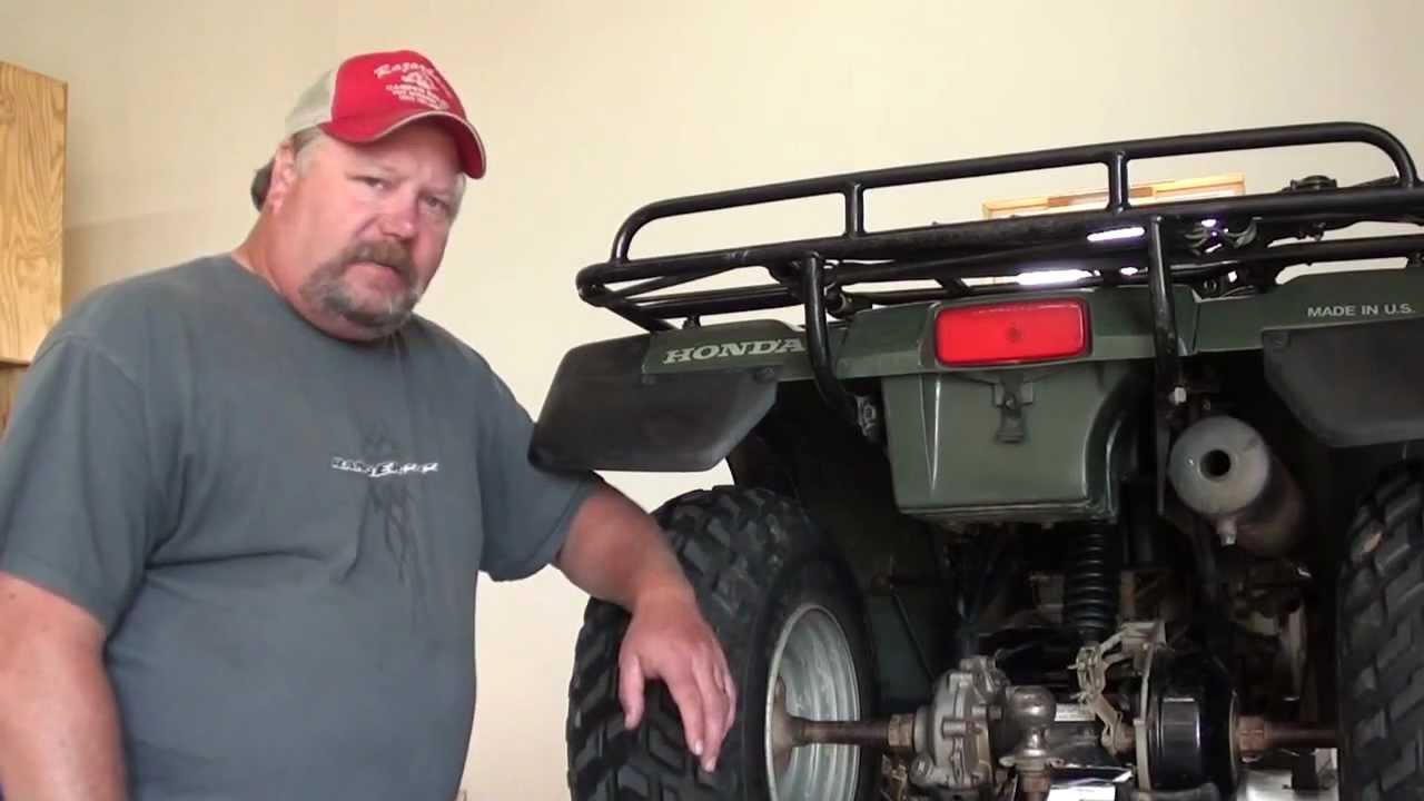 Pt1 Honda TRX300FW Rear Axle Bearing & Brake Repair At DRay's Shop  YouTube