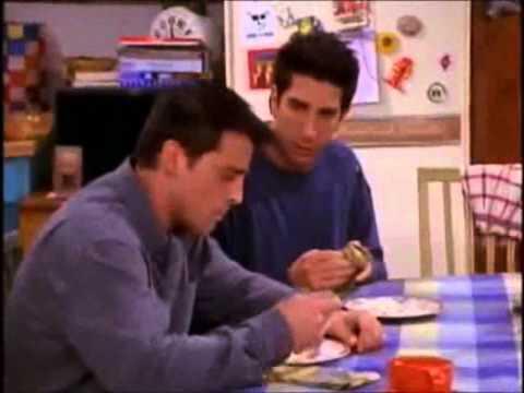 Friends - Joey eats Rachel's dessert