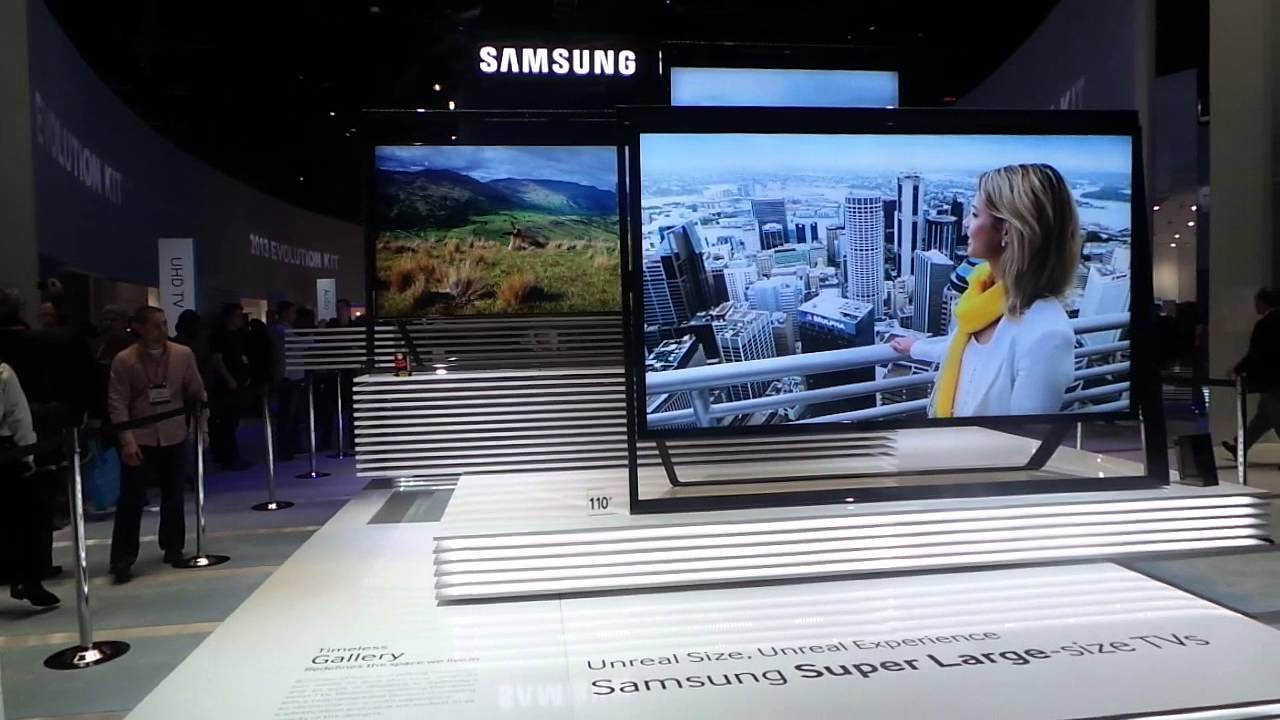 Samsung 110 Inch Ultra Hd Led Tv At Ces 2013 Youtube