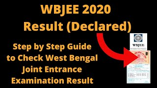 WBJEE 2020 Result (Declared)-How to Check West Bengal Joint Entrance Examinations Result & Rank Card