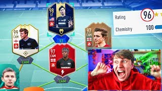 196 RATED YOUTUBER FUT DRAFT!! (ft KSI, W2S & More!) - FIFA 19