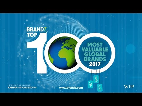 BrandZ Top 100 Most Valuable Global Brands 2017 | Countdown