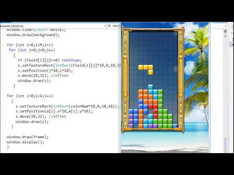 Learn How to Creating A Tetris Game In 6 Minutes Using C++