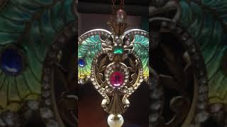 Delightful Art Nouveau Falize pendant with amazing plique a jour enamel