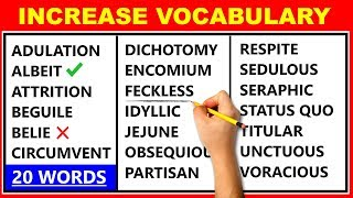20 Difficult English Words - Improve Your Vocabulary - Learn Advanced English ✔️