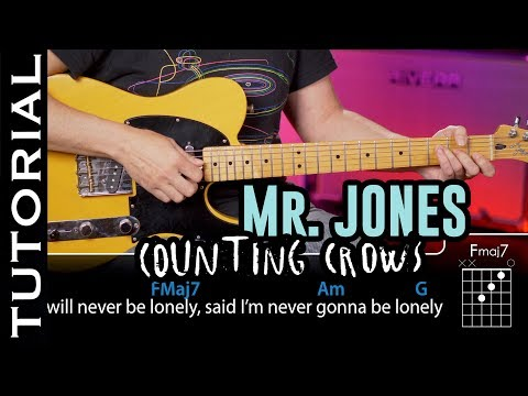 The best video to learn MR Jones by Counting Crows on Guitar with chords !!!