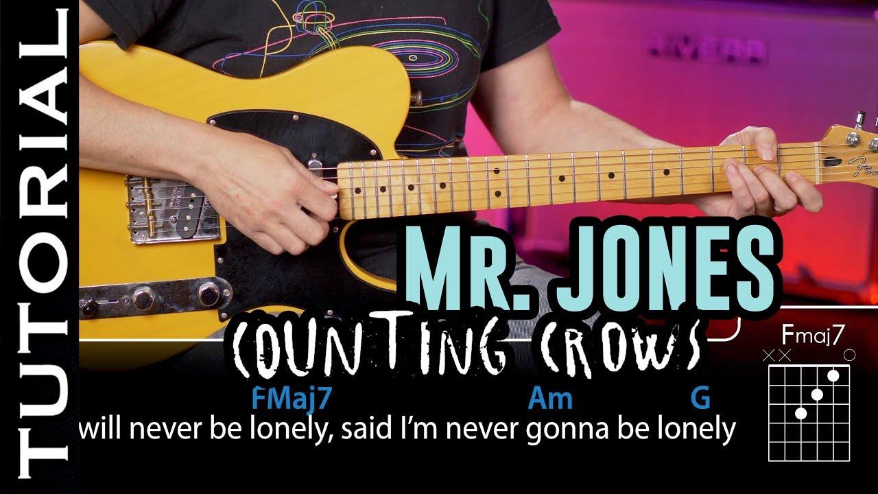 Mr Jones de Counting Crows en guitarra (Tutorial Completo) Cómo tocar | Guitarraviva