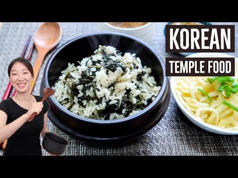 Korean Temple Cuisine: Gondre Rice & Bellflower Root