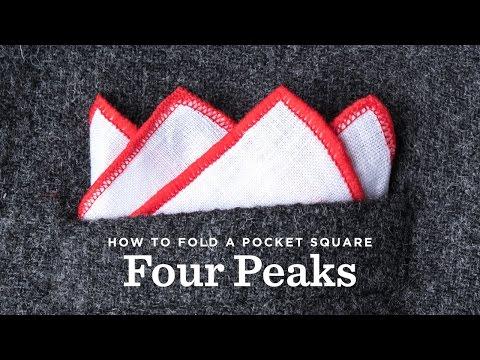 How To Fold A Pocket Square - The Four Peak Fold