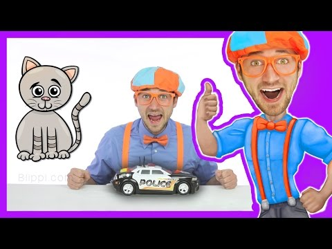 Thumbnail: Police Cars for Kids with Blippi Toys | Educational Videos for Toddlers