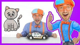 Police Cars for Kids with Blippi Toys | Educational Videos for Toddlers
