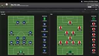 Football Manager 2014 Let's Play - Manchester United #26 | Ajax 2nd Leg | 3D Gameplay