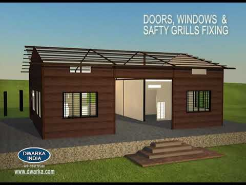 Pre fabricated home dwarka india youtube for What is the cost of building a house in india