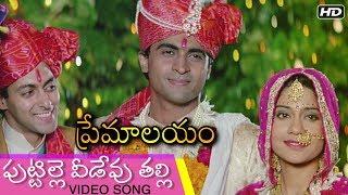Puttille Veedevu Talli Video Song | పుట్టిల్లె వీడేవు తల్లి | Premalayam Movie | Hum Aapke Hain Kaun