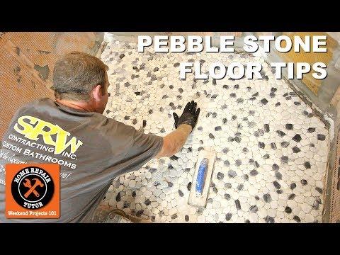 Pebble Tile Shower Floor Tips (5 Key Concepts!) -- by Home Repair Tutor