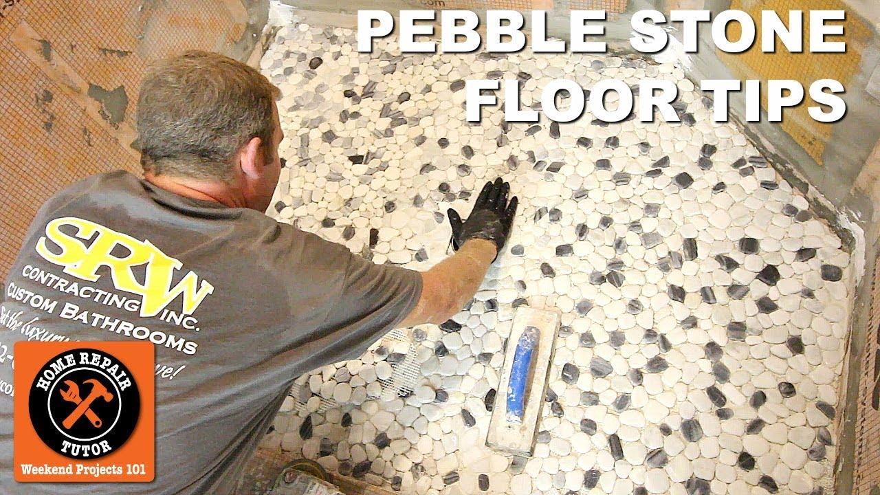 pebble tile shower floor tips 5 key concepts by home repair tutor