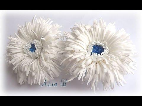 Цветы из ткани своими руками и вязанные крючком Заколки