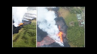 Hawaii volcano eruption: SHOCKING photos show horrifying impact of lava before and after