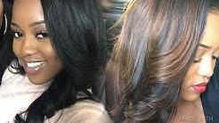 Wig Transformation  Jet Black to Chocolate Brown (No Bleach/Damage)