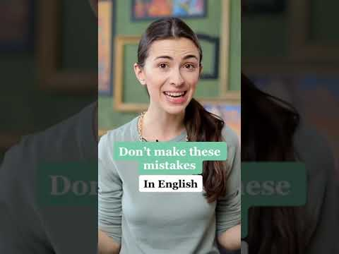 DON'T MAKE These Most Common MISTAKES In English #shorts