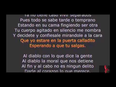 Joel Santos Al diablo Karaoke letra lyrics bachata completa