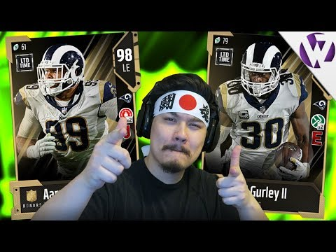 NFL HONORS TODD GURLEY & NFL HONORS AARON DONALD! - Madden 18 Gamechanger Pack Opening