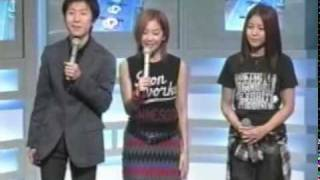 BoA meeting Shinhwa in Japan for a show She's one of the hosts too.